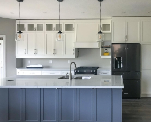 Grey and White Kitchen in Collingwood