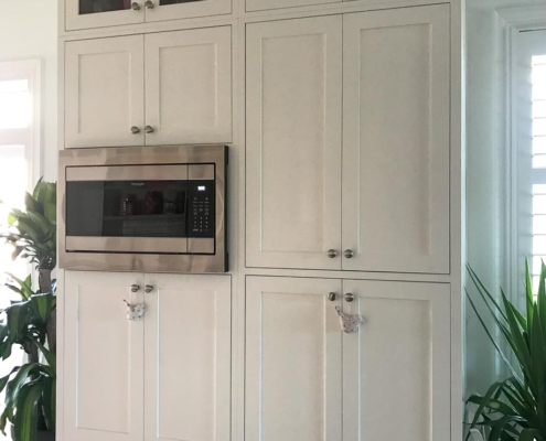 Pantry with Microwave Built-in